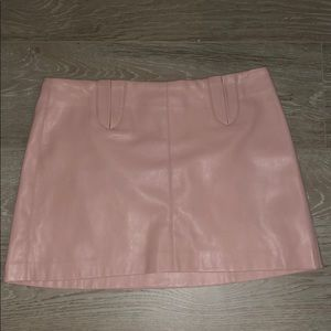 Pink mini skirt pleather